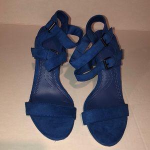NWOT Zara Royal Blue Strappy Sandals